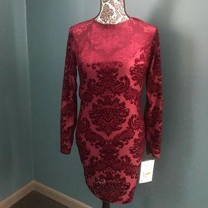 NWT Velvet Maroon Dress, Size 5/6
